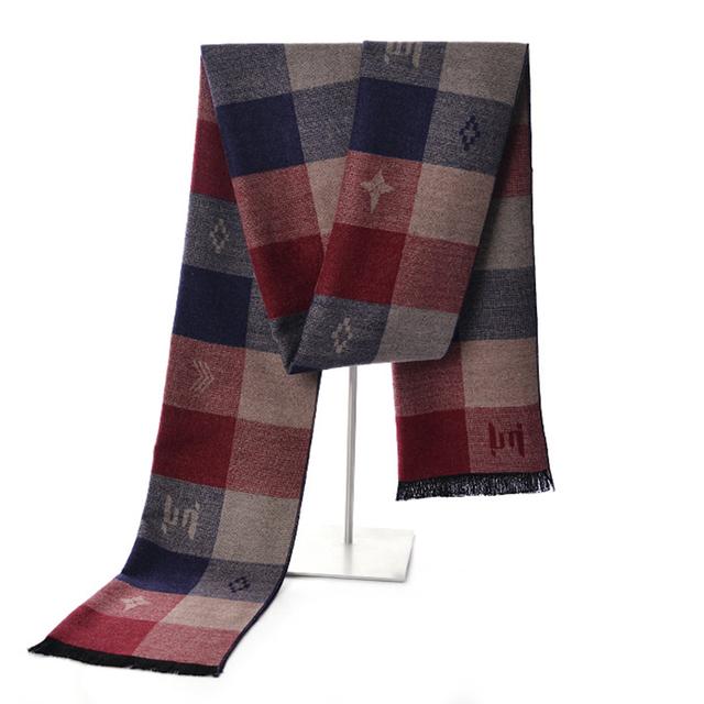 2016 Homens de Inverno Da Marca de Luxo Cachecol de Caxemira Xales Longos Lenços Homens Cachecóis Echarpe Foulard Bufandas Mujer Hiver Presentes Para Homens