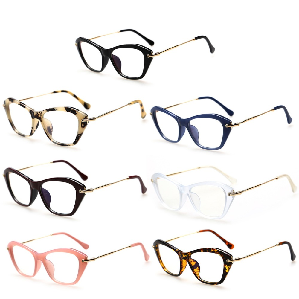 Women Retro Sexy Eyeglasses Frame Fashion Cat Eye Clear Lens Ladies Eye Glasses New