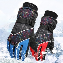 Велосипедные перчатки ветрозащитный для езды Водонепроницаемые Нескользящие перчатки с сенсорным экраном для катания на лыжах осенне-зимние велосипедные перчатки