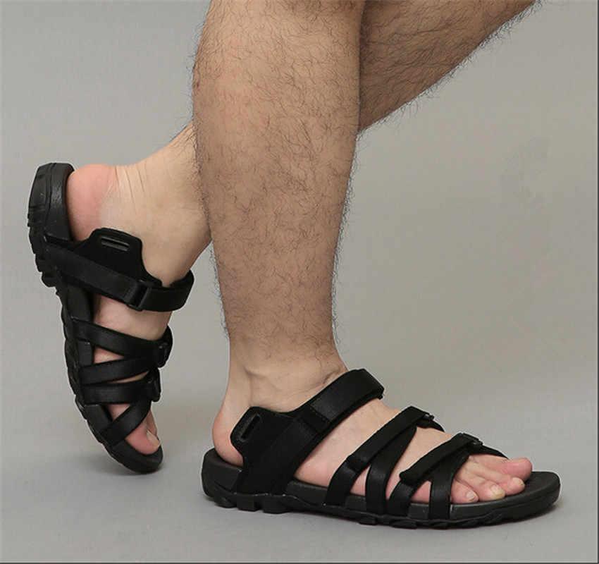 2b4662353b1c ... Summer beach sandal shoes men leather leisure 2018 new youth sandals  menswear antiskid Vietnam is cool ...