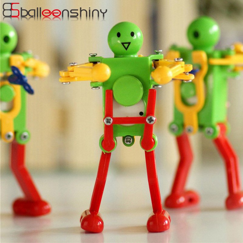 BalleenShiny 1 PC Baby Dancing Robot Wind Up Toys Children Cute Funny Creative Mechanical Plastic Clockwork Dancer Kids Toys