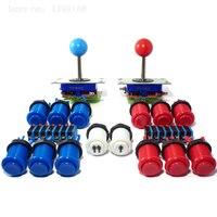 2プレーヤーアーケード制御キット-2ボールトップジョイスティック、14ボタン/アーケードパーツバンドルキット-mame、jamma