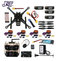 JMT DIY Unassembled 4 Axle RC FPV Drone S600 Frame Kit with APM 2.8 No Compass 700KV Motor 40A ESC Battery Charger AT9S TX