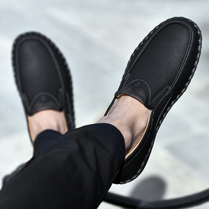 Image 5 - Men Casual Shoes Loafers Sneakers 2020 New Men Fashion Leather Comfortable Loafers Casual Shoes Zapatos De Hombre Men Shoe