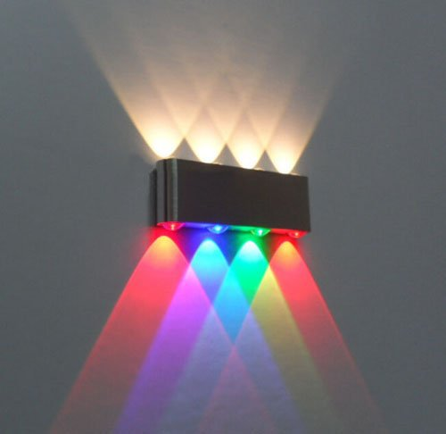 8W Led Wall Sconce Lamp Lights For Hotel Aisle Step Hall Bedside Up Down