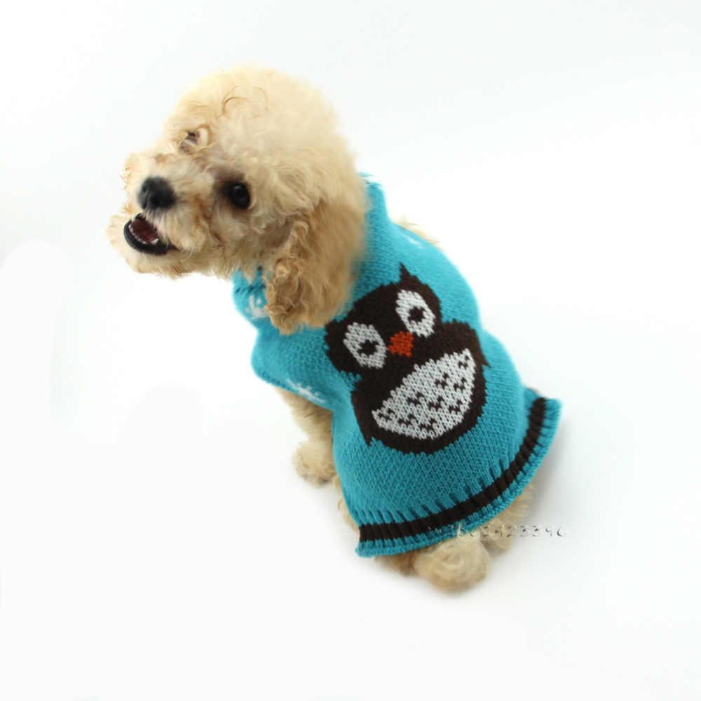 Хэллоуин Сова собака свитер теплый маленький собаки кошки вязаный свитер зимний питомец щенок одежда для Чихуахуа Тедди пальто DOGGYZSTYLE