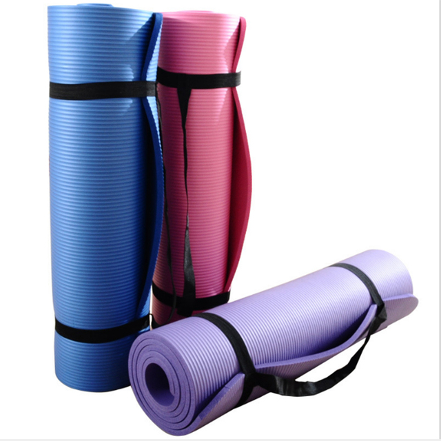 1 Piece 10mm Yoga Beginner Indoor Yoga Mat Pilates Pads Outdoor Garden Fitness Training Mats Comfort 183*61*1 CM