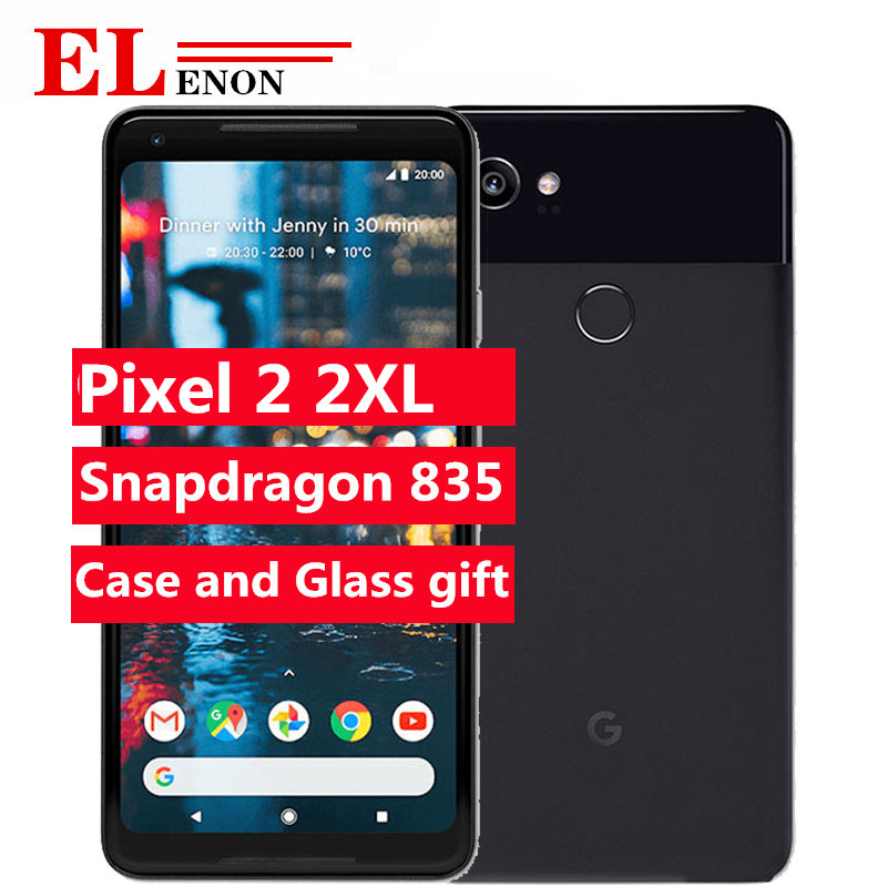 Original Brand NEW Google Pixel 2 XL 2XL XL2 4G LTE 64GB 128GB 5.0'' Snapdragon 835 Octa Core Fingerprint Android Mobile Phone