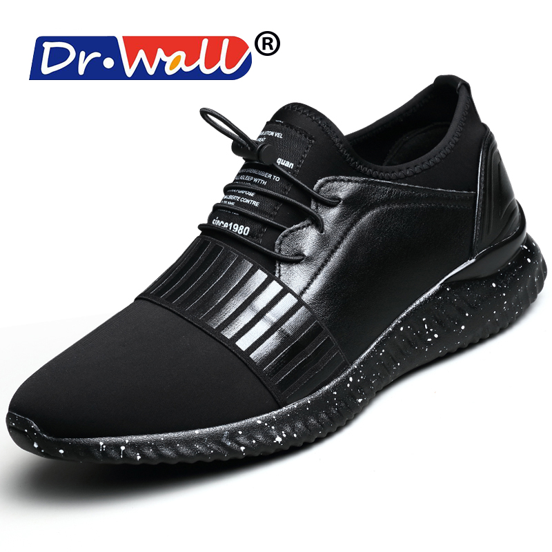 New Classics Style Men Casual Shoes Outdoor Fashion Sneakers Lace Up Men Flats Split Leather Men Loafers Free Shipping Black dhl free shipping brand clothing cow leather long jackets men s genuine leather black casual jacket fashion classics