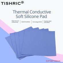TISHRIC 0,5 мм термальность Pad Клей GPU процессор проводящий силиконовые колодки радиатора охлаждения радиатора кулер портативных ПК