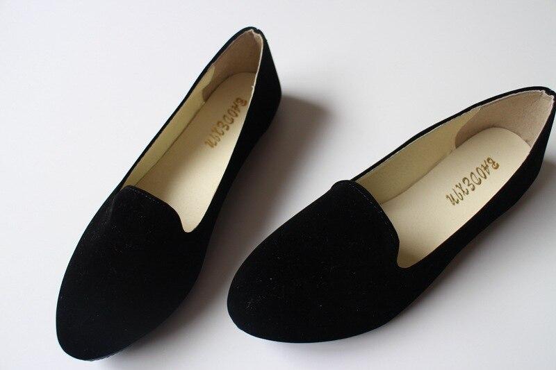 618a09c9494a Ladies Shoes Ballet Flats Women Flat Shoes Woman Ballerinas Black ...