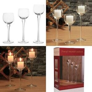 Image 4 - 3 szt. Zestaw świeczniki dekoracje ślubne producent świecznik świecznik na herbatę światło strona główna Bar strona dekoracji