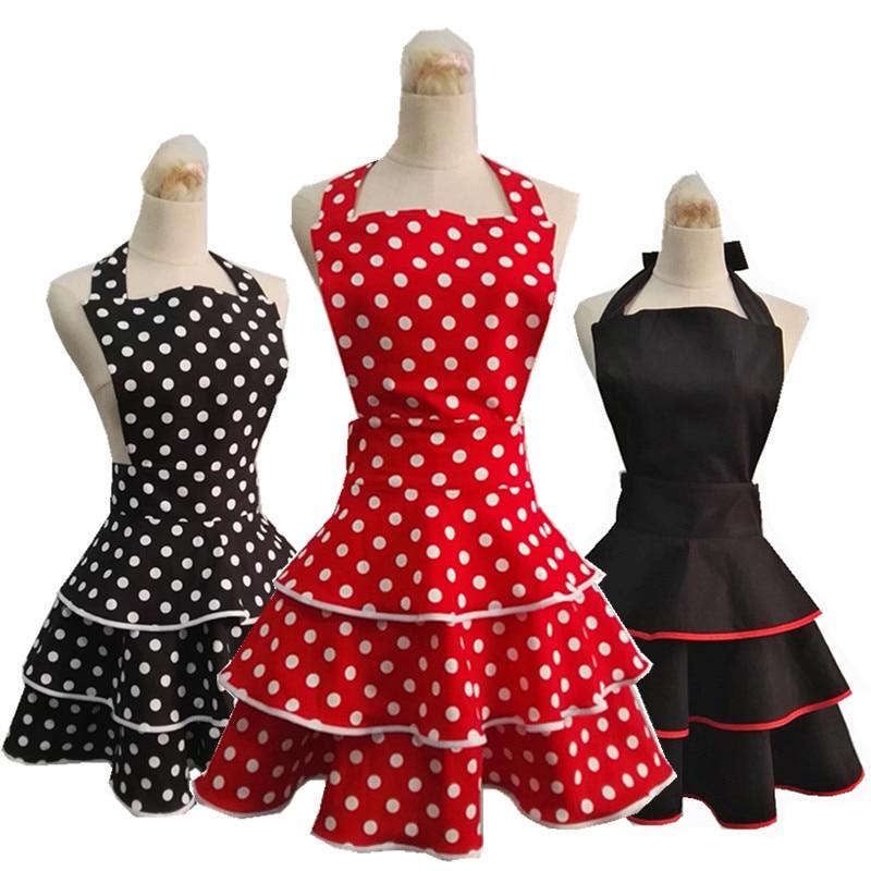 New High-quality Cotton Apron Retro Cute Apron For Woman Kitchen Organizer Ceremonial Dress Avental Delantal Grembiule Tablier