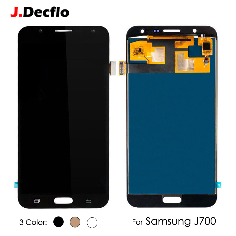 <font><b>LCD</b></font> Display For <font><b>Samsung</b></font> Galaxy <font><b>J700</b></font> J7 2015 SM-J700M DS J700F J700A Adjust Brightness Touch Screen Digitizer Assembly image