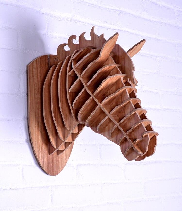 Cheval en bois décoration murale, artisanat cheval, animaux tête décoration de la maison, articles de nouveauté, artisanat de bricolage, art mural sculpté, sculpture sur bois de cheval,