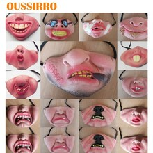2019 Punish Funny realistic silicone mask Scary Half Face Clown Latex Mask For Cosplay Costume / Halloween Party Decoration