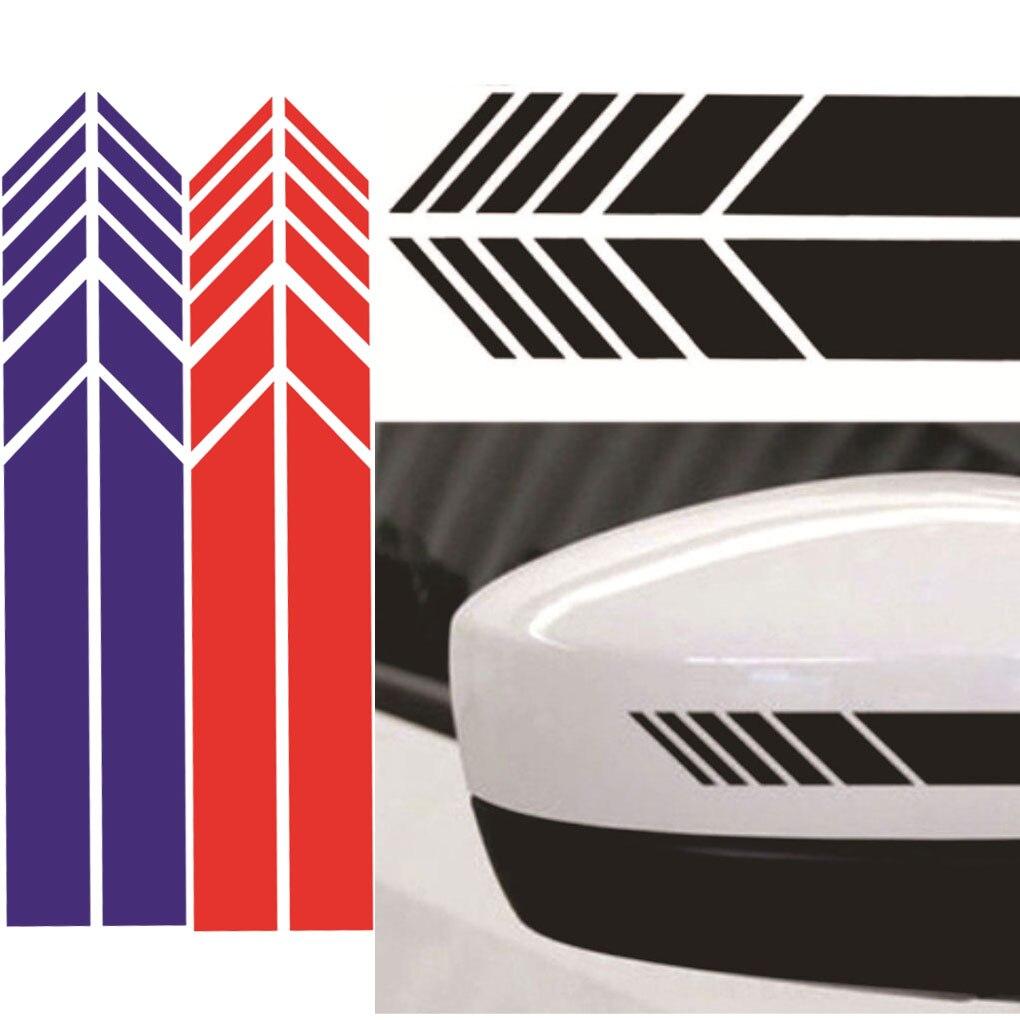 Car Decal Sticker Reflective Rear Mirror Auto Decal Wrap Stickers Motorcycle Decor Wrap DIY