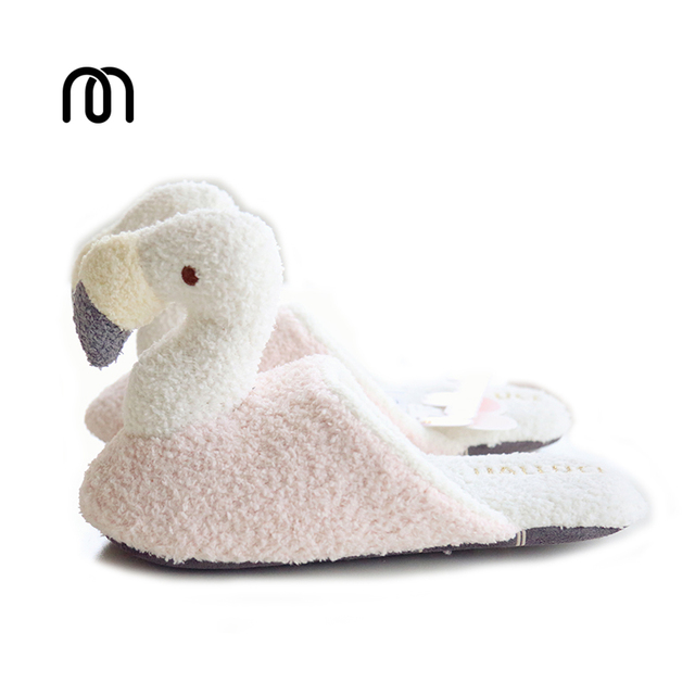 4543a329f Millffy new adorable narwhal super soft cotton slipper plush slippers warm  winter fimingo indoor female cotton