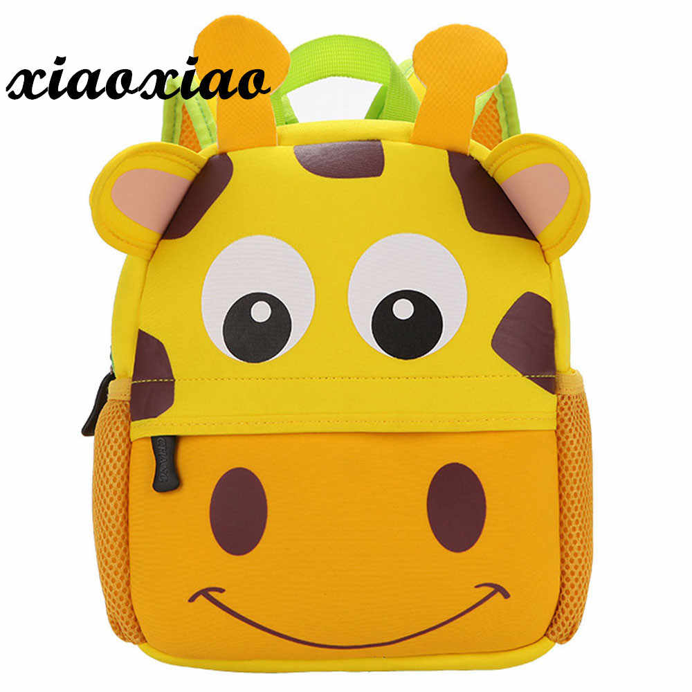 Модный мультяшный рюкзак для младенцев, школьные сумки для девочек и мальчиков, 3D милые животные, собака, обезьяна, Детские рюкзаки, школьные сумки, ранец