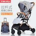 Детская коляска может сидеть Лежащая Легкая Складная ультра легкая детская коляска Новорожденный ребенок ручной толчок зонтик