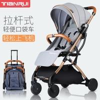 아기 유모차는 가벼운 접이식 울트라 라이트 베이비 유모차 신생아 핸드 푸시 우산을 앉을 수 있습니다