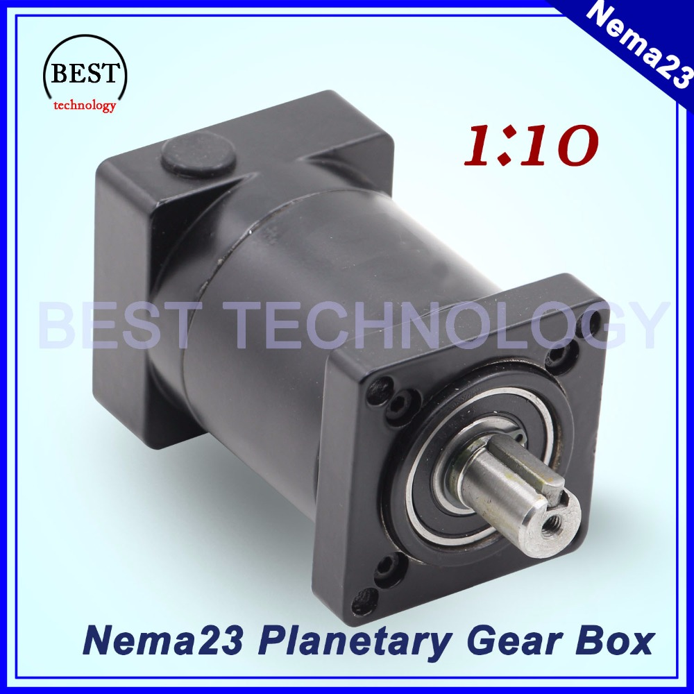 Nema23 Motor Planetary Reduction Ratio 1:10 planet gearbox 57mm motor speed reducer Nema 23 Planetary Gear high quality !! 57mm planetary gearbox geared stepper motor ratio 10 1 nema23 l 56mm 3a