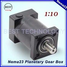 Nema23 Moteur Planétaire Réduction Ratio 1:10 planète boîte de vitesses 57mm moteur vitesse réducteur Nema 23 Engrenage planétaire haute qualité!!