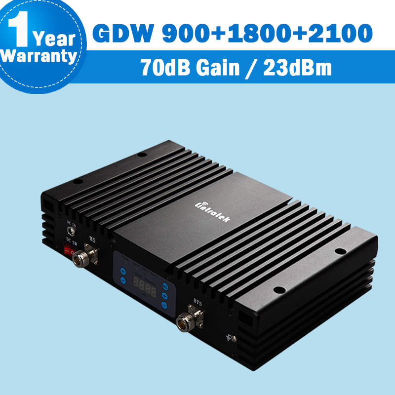 Great Power Amplifier Tri Band 900 1800 2100 mhz Celullar Repeater Cellphone Signal Booster 70dB kw23f-gdw 900 gsm repeater 3g17Great Power Amplifier Tri Band 900 1800 2100 mhz Celullar Repeater Cellphone Signal Booster 70dB kw23f-gdw 900 gsm repeater 3g17