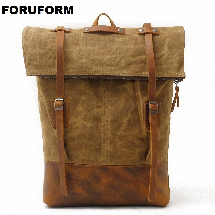 Vintage Fashion Backpack Waterproof Canvas Backpack Men Backpack Women School Backpack Casual Travel Bagpack Rucksack LI-1864 compact fashion waterproof men backpack