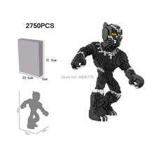 LegoINGlys creators Marvel Super Heroes Avengers moc Micro Diamond Building Blocks Black Panther figures model bricks toys gift