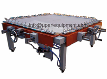 double clamp orm and wormwhcel pneumatic silk screen printing stretching machine