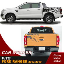 free shipping mudslinger  side body sticker box bed graphic vinyl and tail door car for Ford ranger wildtrack2012 2018