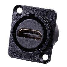 HDMI D نوع المقبس شبكة التوصيل الشاسيه لوحة جبل موصل الصوت المعادن HD كابل الطيران Nov 26A