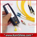 1 mw / 5 km de fibra óptica localizador Visual KomShine KFL-10 para fc, sc, ST y LC conector, Visual Fault Locator Tester VFL