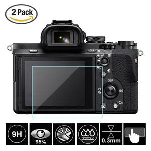 2 Pcs Tempered Glass Screen Protector for Sony Alpha A6300 A6000 A5000 A99II A9 A7