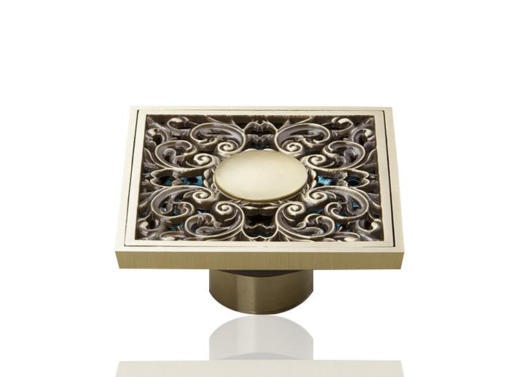 Perfect L5401 Antique Brass Flower Bathroom Floor Drain Faucet Accessory Floor Drain Basin Sink Kitchen