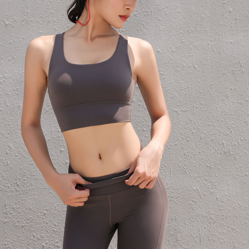 Yoga Bra Strong Shade Gymnasium Clothes Cross Strapped Again Horny Athletic Sports activities Underwear Fast Dry Tops Padded Push Up Sports activities Bras, Low-cost Sports activities Bras, Yoga Bra...