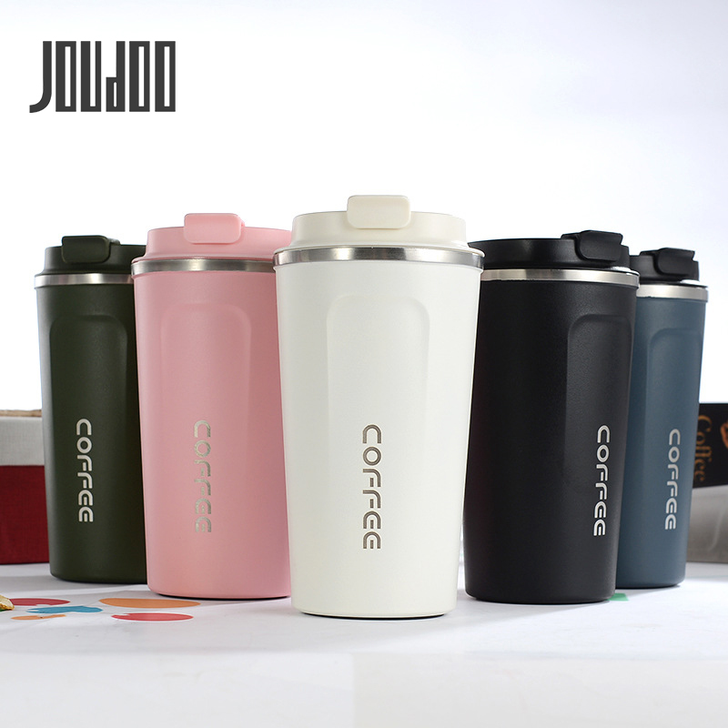 JOUDOO 380/510ML Thermos coffee mug Stainless steel Travel Portable Mug Coffee milk cup Vaccum Flasks Thermo Cup 35