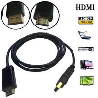 2018 1.8M Displayport Display Port DP to HDMI Cable Male to Male Full HD High Speed drop shipping
