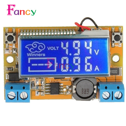 Liquid Crystal Displays DC-DC Step-Down Buck Converter Power Supply Adjustable Push Button Module with LCD Display 5-23V 3A