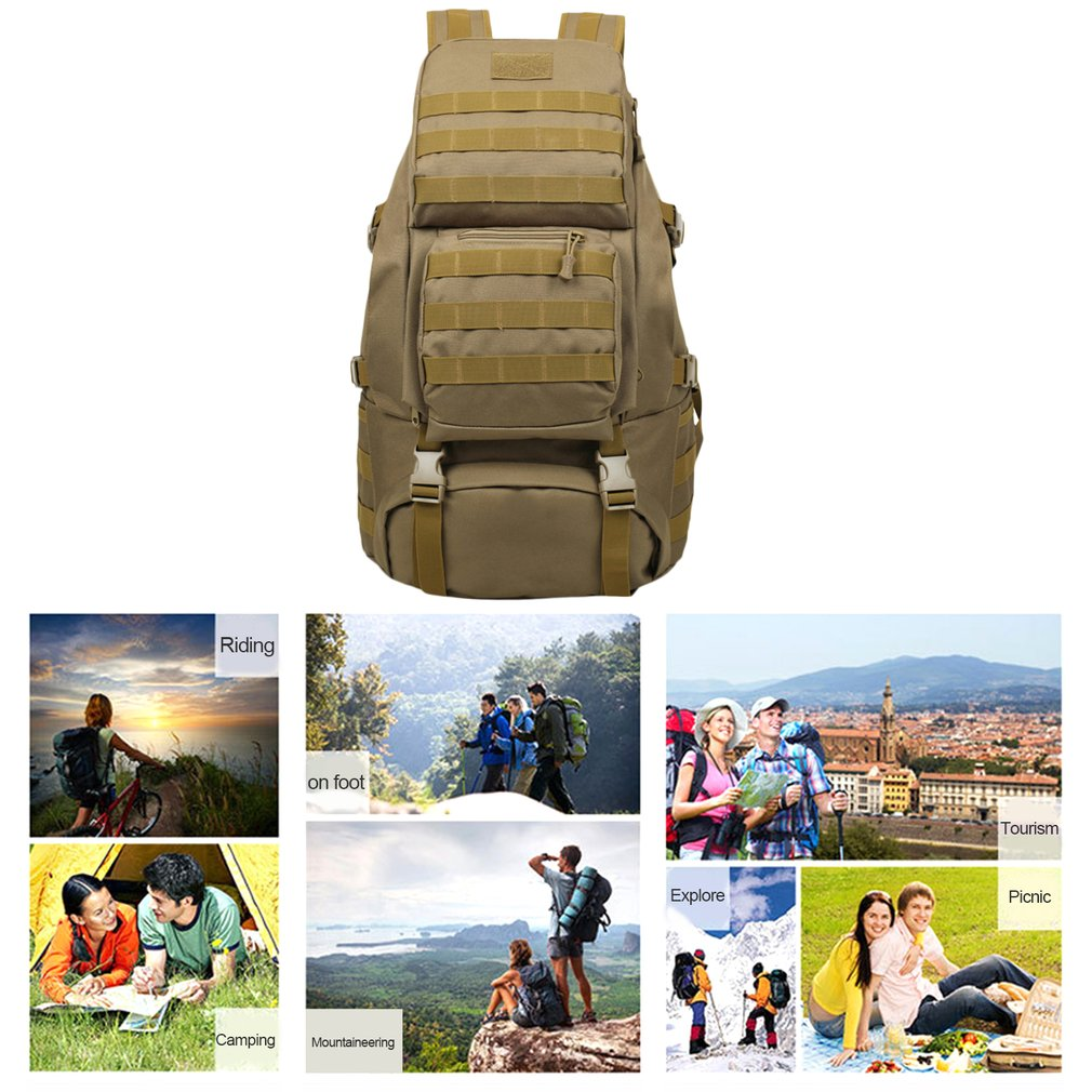 OUTAD 55L Large Capacity Back Pack Bag Outdoor Climbing Bag Waterproof Sports Travel Backpack Army Camouflage Shoulder Bag outdoor sports double shoulder bag student bag computer bag waterproof pack free shipping
