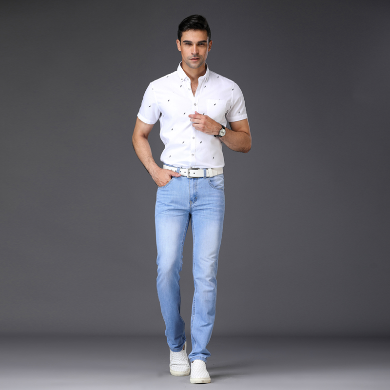 2019 Spring Summer Jeans Fashion Slim Jeans  Men's Trousers Mens Casual Jeans Large Size Jeans Represent Clothing