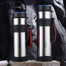 New stainless steel vacuum large capacity thermos cup portable water outdoor sports creative gift