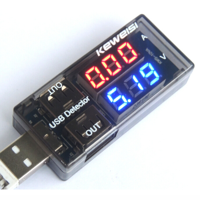 1pc New USB Current Voltage Tester Meter USB Voltage Ammeter USB Detector Double Row Shows Gauge Facotry Online Wholesale