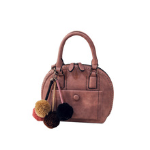 Stylish New Shell Bag Trendy Retro Small Handbag Front Patch Pocket Small Rivets Women Solid Color Nubuck Shoulder Bag
