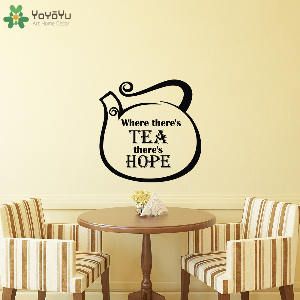 YOYOYU Wall Decal Kitchen Vinyl Wall Stickers Quotes Where Theres ...