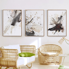 Abstract Watercolor Splash A4 Canvas Painting Art Print Poster Picture Wall Decoration Modern Home AB017