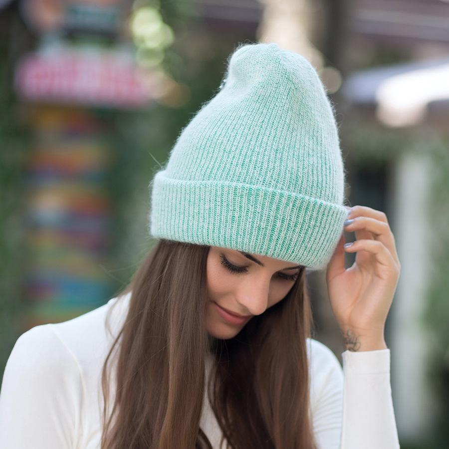2017 New Autumn Winter Beanies Hats For Women Knitting Warm Wool Skullies Caps Ladise Hat Pompom Gorros (17)