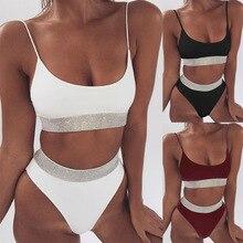 women bikini bathing suit Sexy female swimsuit separate Push up triangle swimwear