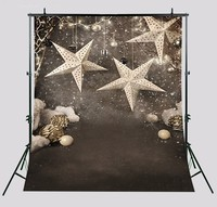 Gold Star Golden Stars Photography Backgrounds High Grade Vinyl Silk Cloth Computer Printed Children Kids Photo